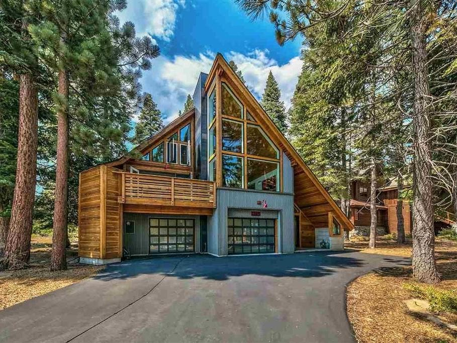 Sleek Mountain Home Redefines A-Frame: For Sale In Truckee