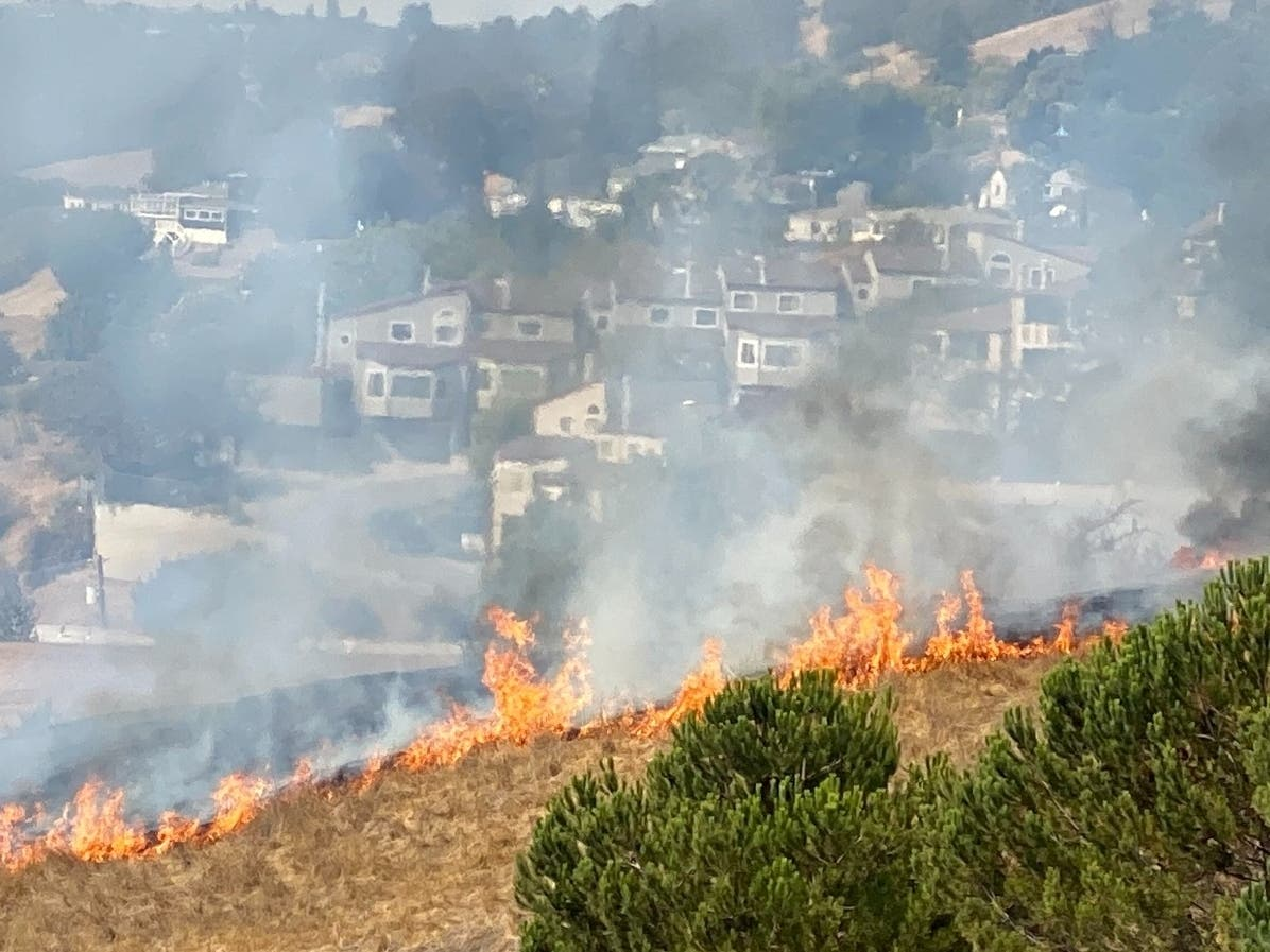 Brush Fire Fills San Leandro & Castro Valley With Smoke