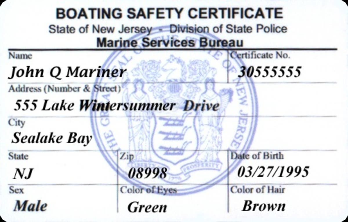 Boating in NJ - You need a Boat Safety Certificate