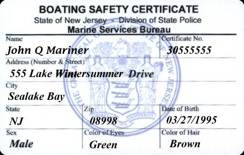 boat toms river safety class njsp certification event patch