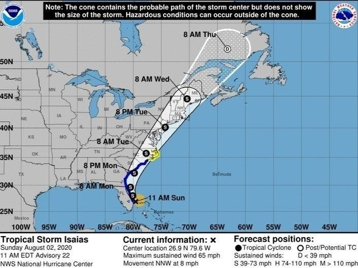 Southern Connecticut Under Tropical Storm Watch As Isaias Looms Across Connecticut Ct Patch