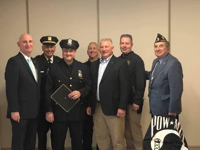American legion honors garden city firefighter police - Garden city police department ny ...