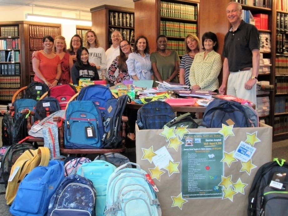 Westfield Attorneys 'Stuff the Bus' for Local School