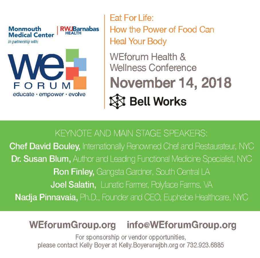 WEforum Health & Wellness Conference | Rumson, NJ Patch