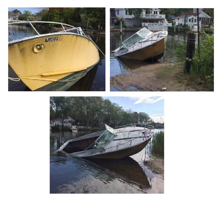 Abandoned Boat's Owner Sought In Brick: Police