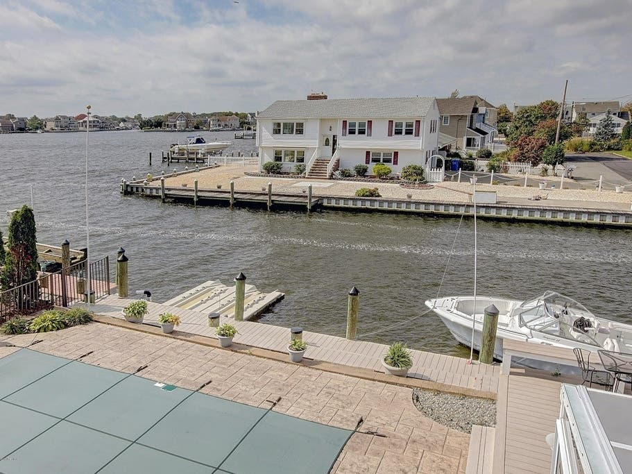 Water Views Throughout Lagoonfront Home In Toms River