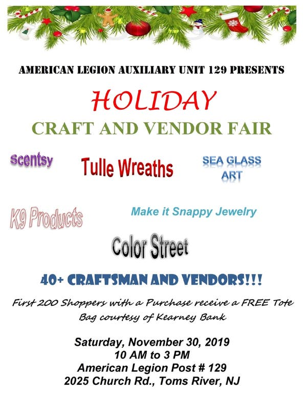 Christmas In July Color Street.Dec 31 Holiday Craft Vendor Fair Toms River Nj Patch