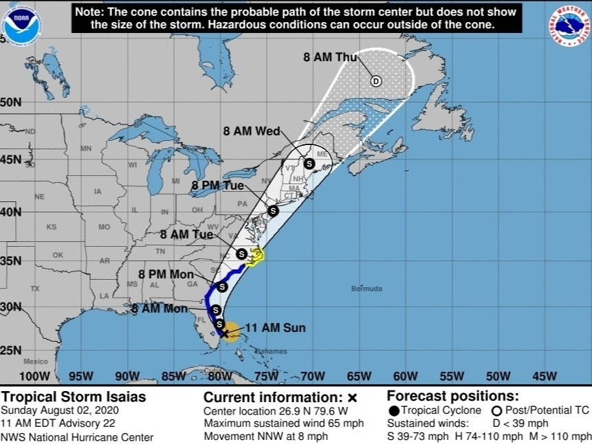 Tropical Storm Isaias On Track To Bring Heavy Rain To Nj Toms River Nj Patch