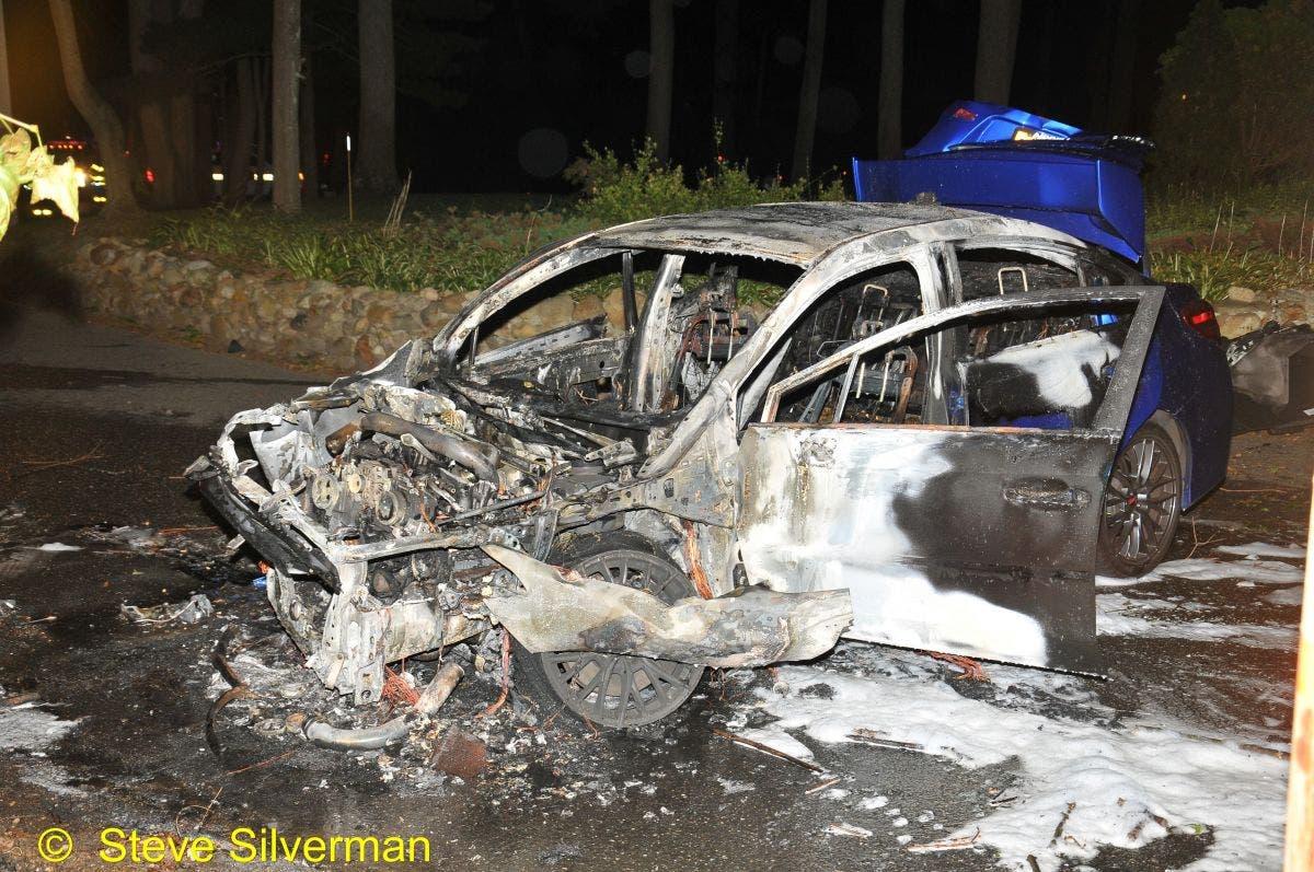 Man, Woman Escape Fiery Car Crash in West Hills | Huntington, NY Patch