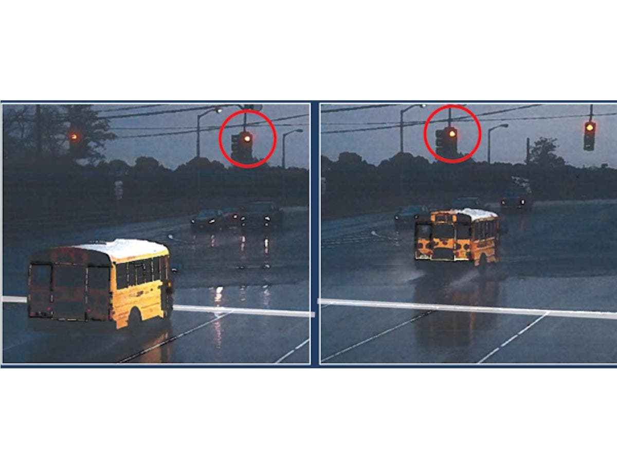 How Much Is A Ticket For Running A Red Light >> Suffolk School Bus Drivers Run Red Lights With No