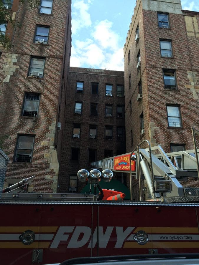 Fire Breaks Out In Jamaica, Queens Building Where