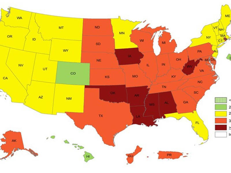 Show Me The Map Of Arizona.Obesity In Arizona New Maps Show How Common It Is Phoenix Az Patch