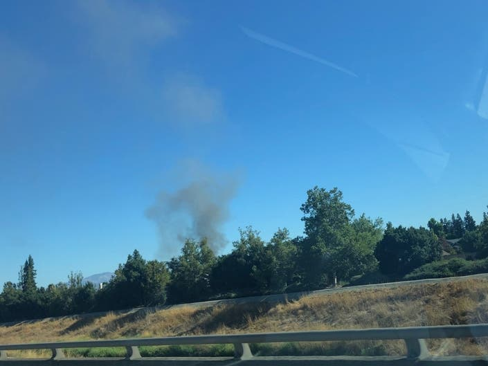 Smoke Seen Coming From Pleasanton Structure Fire