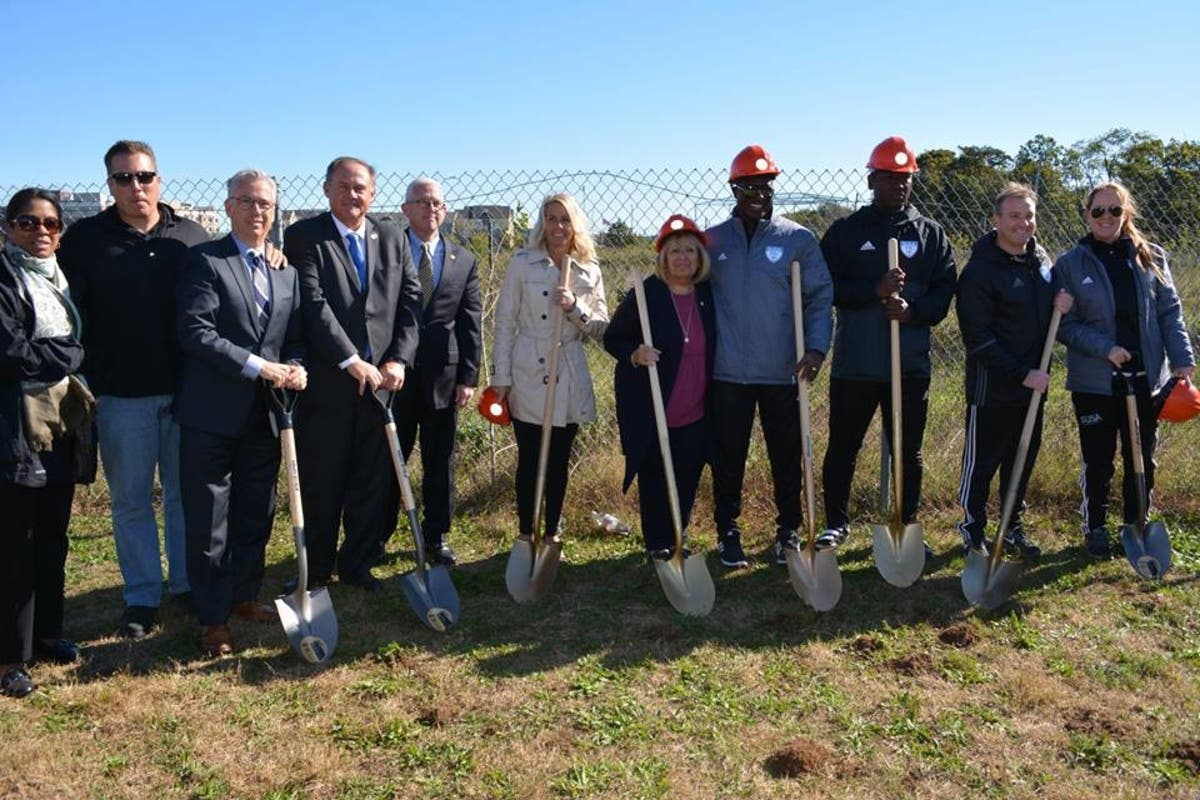 Town Officials Break Ground On New Sports Complex In Central Islip