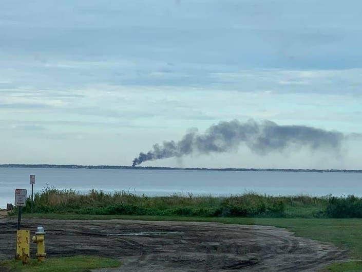 Massive Fire Breaks Out On Fire Island