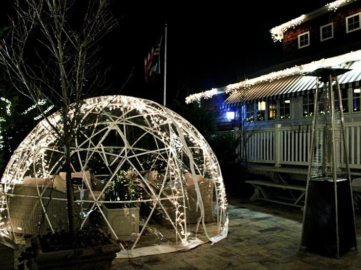 West Islip Restaurant Opens New Igloos For Winter Outdoor Dining