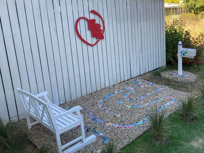 A new prayer garden created by senior Mia Ruck gives students at Woodlands Academy – an all-girls high school in Lake Forest – a place where they can spend quiet time with nature to meditate, pray and de-stress.