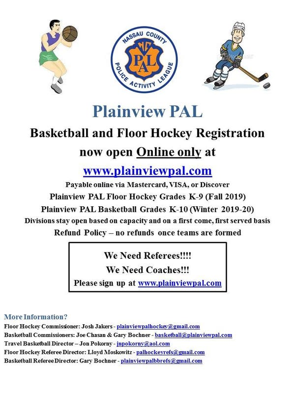 Sep 12 | Plainview PAL Fall & Winter Sports Registration