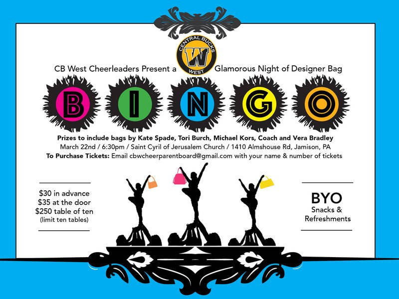 Bag Bingo to Support CB West Cheerleading on Fri., Mar. 22