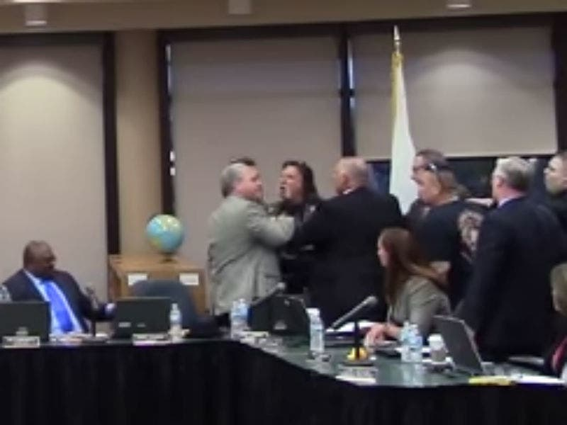 Melee At School Board Meeting Member Says He Was Assaulted