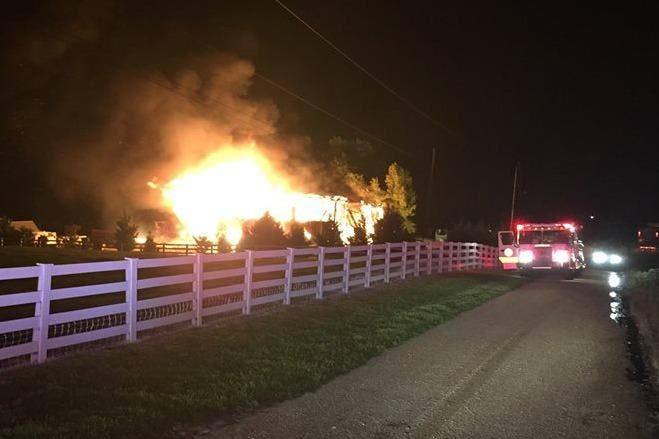 Fire Destroys Barn With Controversial Trump Sign Report