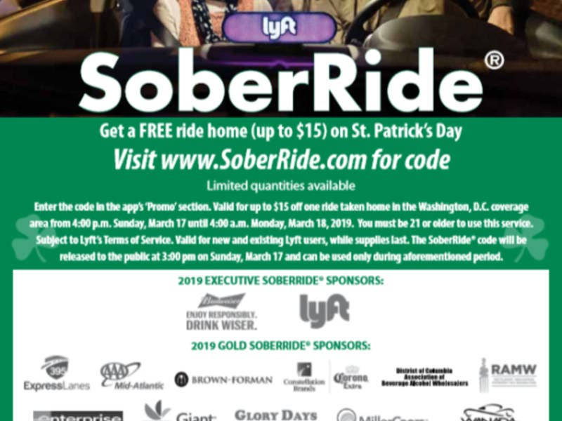 Free Lyft Rides Available For St. Patricks Day