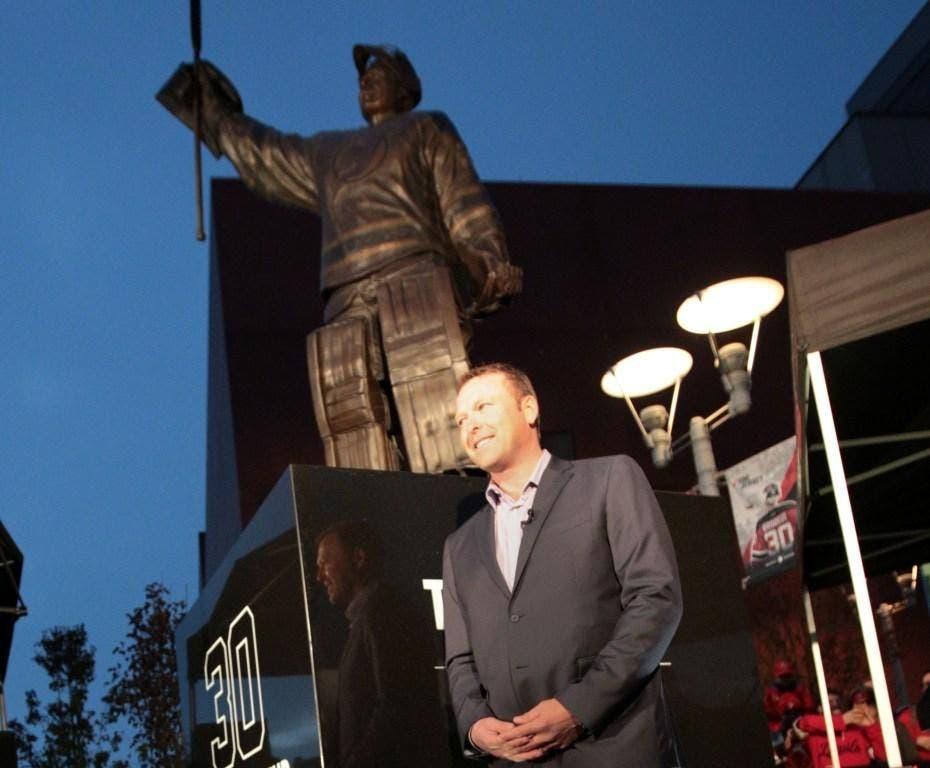 Nj Devils Give Martin Brodeur Statue A Permanent Home Newark Nj Patch