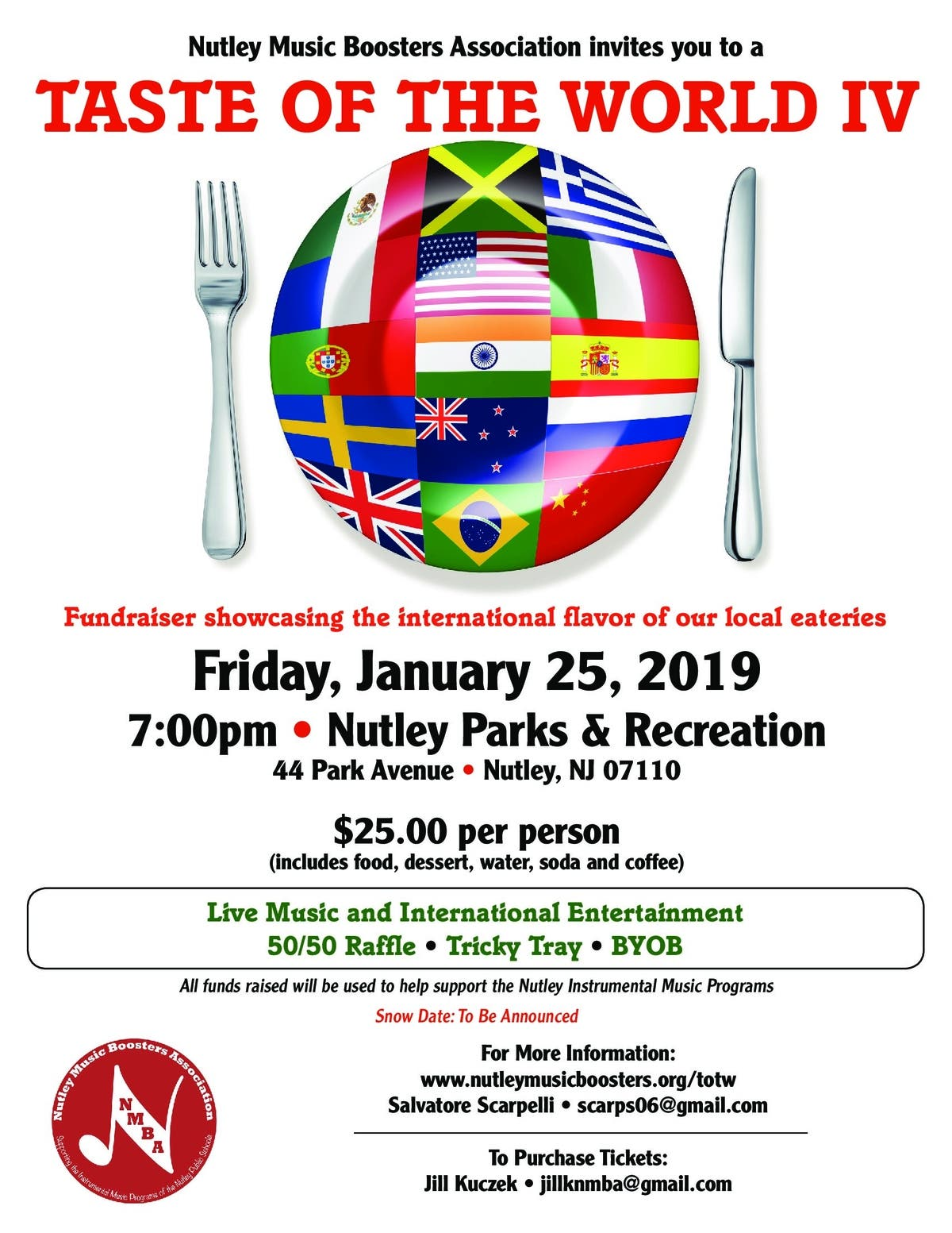 Nutley Music Boosters Holding 'Taste Of World' Fundraiser