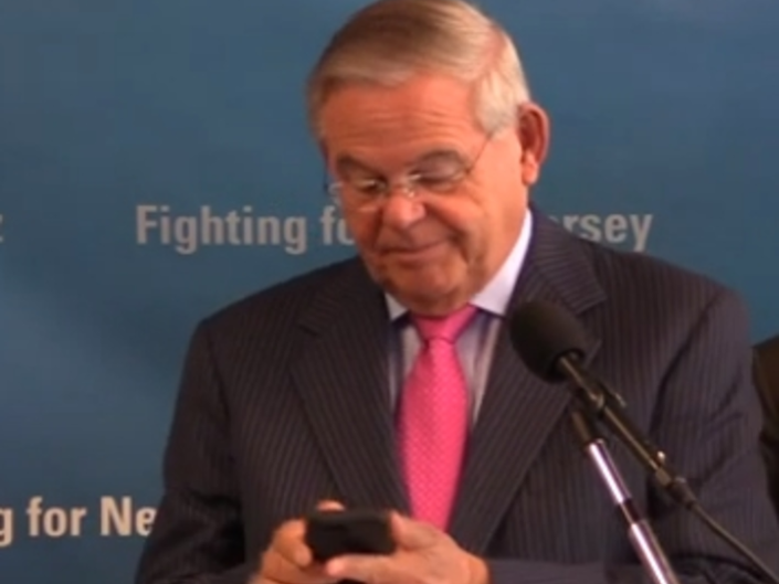 Sen. Menendez Tries To Announce Robocall Crackdown, Gets Robocall