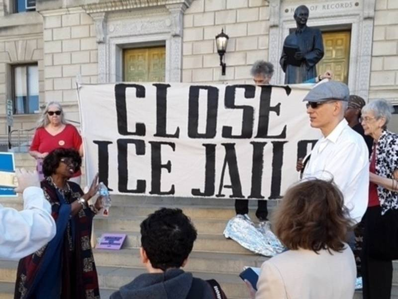 Activists Rally In Newark: 'No ICE Blood Money At Essex