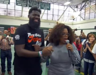 Oprah Winfrey Visited West Side High School In Newark New Jersey On May 17
