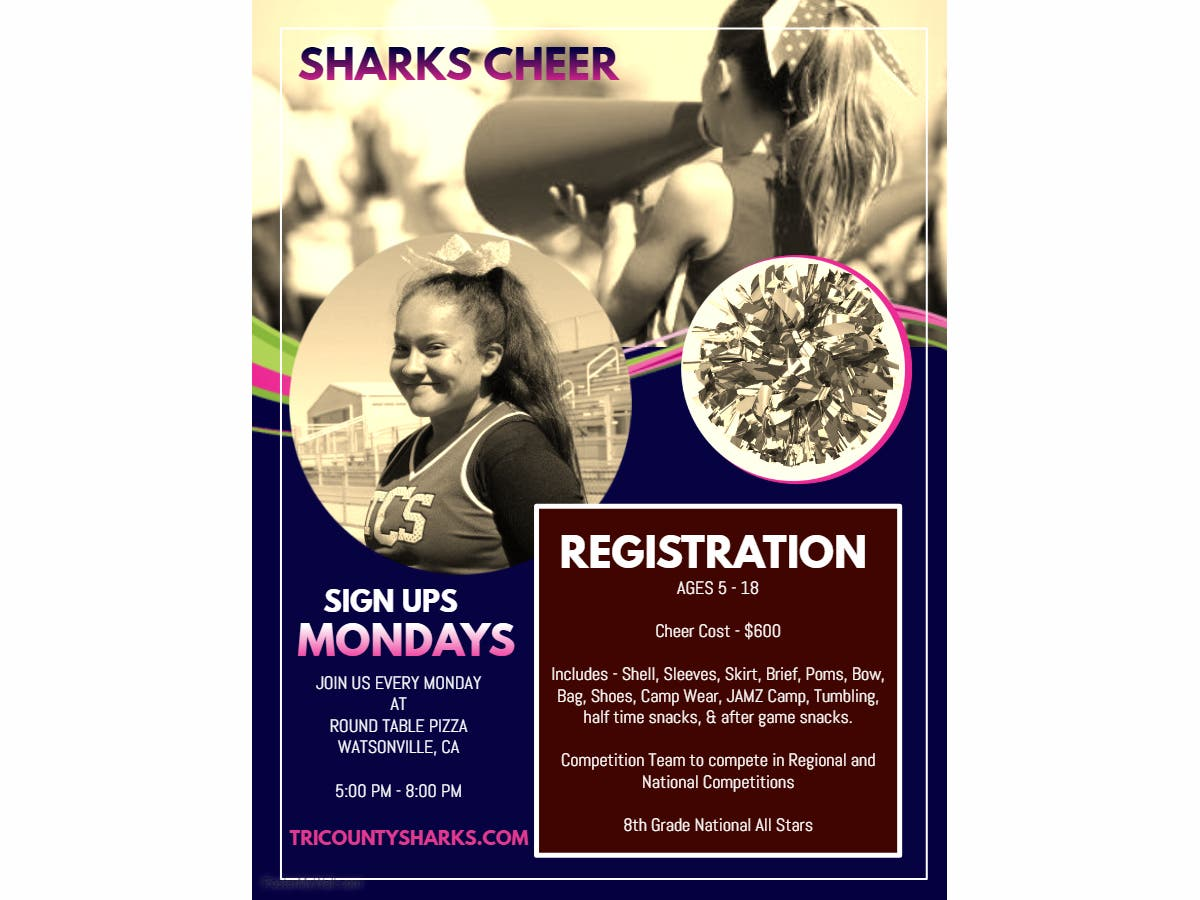Round Table Watsonville Ca.Tri County Sharks Youth Football Cheer Watsonville Ca Patch