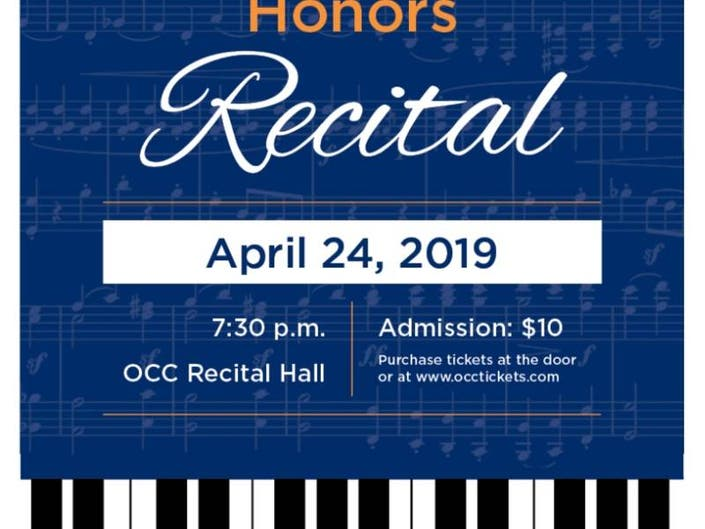 OCC Piano Scholarship Recipients to Perform in Honors Recital
