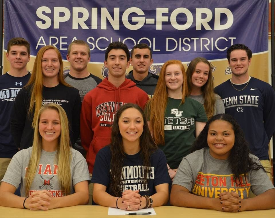 11 Spring Ford Seniors Sign Letters Of Intent To Compete In