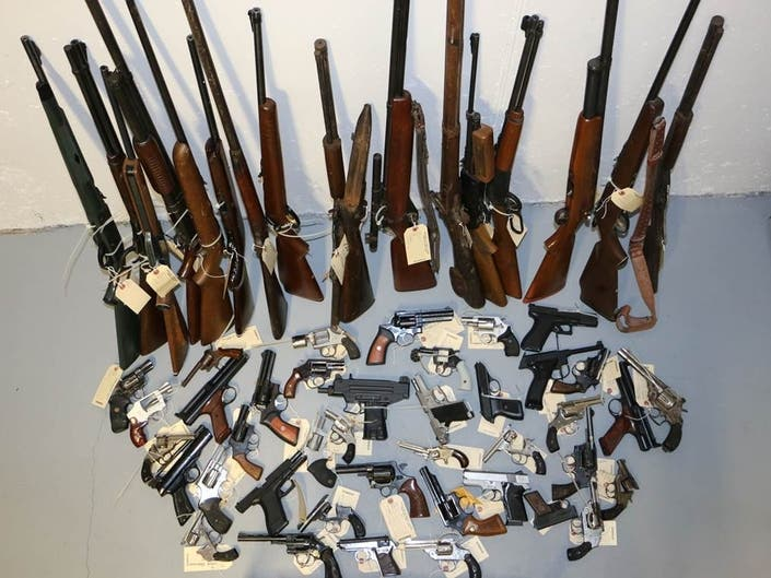 65 Firearms, Including An Uzi, Turned In At Montco Disposal Event