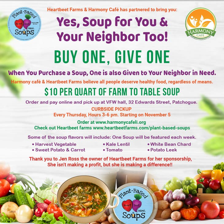 Yes, Soup for You & Neighbor Too, Buy one, Give one,