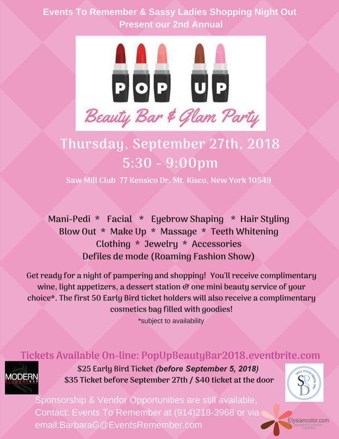 Events To Remember To Hold 2nd Annual Pop Up Beauty Event