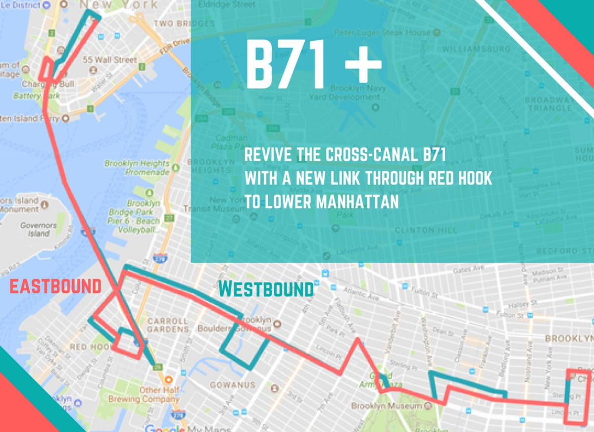 Bring Back B71 Bus, Run It To Manhattan, Officials Say ... on brooklyn transportation map, mta bus company bus schedule, brooklyn quotes, brooklyn on map, b63 route map, nyc subway map, brooklyn buses map, brooklyn tumblr, brooklyn train map, brooklyn neighborhoods, heart of brooklyn, onnyturf : google map nyc-subway hack, brooklyn subway, brooklyn atlantic terminal stores, brooklyn elevated railroad, brooklyn queens map, brooklyn street map, brooklyn warehouse fire, brooklyn middle school, brooklyn school map, brooklyn ghetto, brooklyn new york,