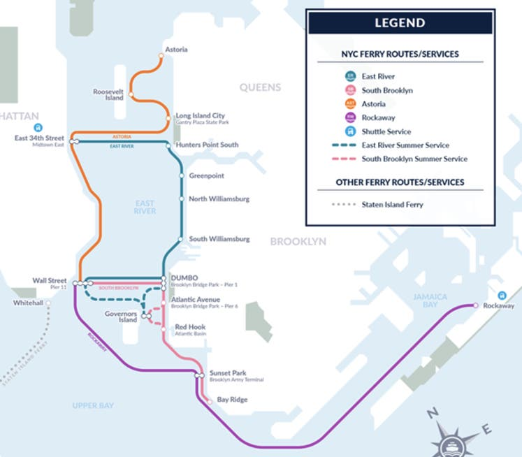Greenpoint Brooklyn Subway Map.Nyc S Huge New Ferry Network Route Maps Schedules Fares Opening