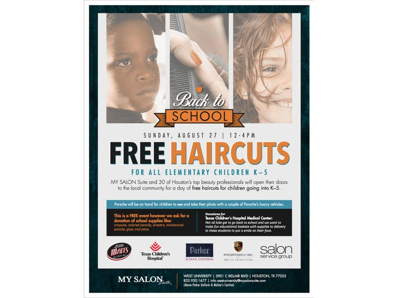 Free Back To School Haircuts Houston Tx Patch