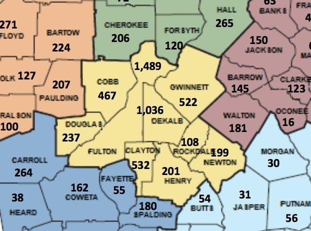 Georgia Map For Kids.Dekalb County 2018 Halloween Sex Offender Safety Map Tucker Ga Patch