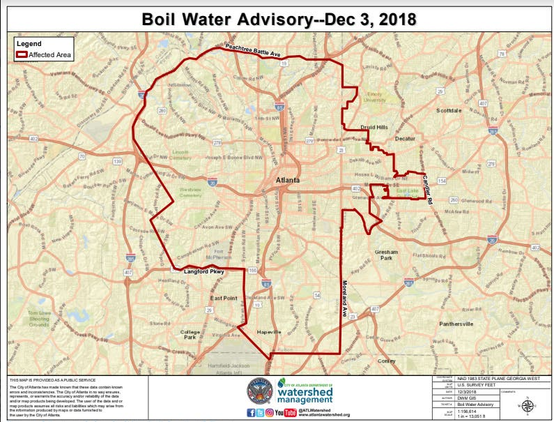 Boil Water Advisory Lifted After Water Outage | Atlanta, GA Patch