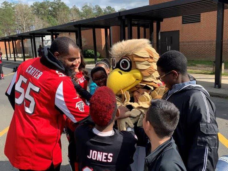 SCANA, Atlanta Falcons Host Cobb County After-School Celebration
