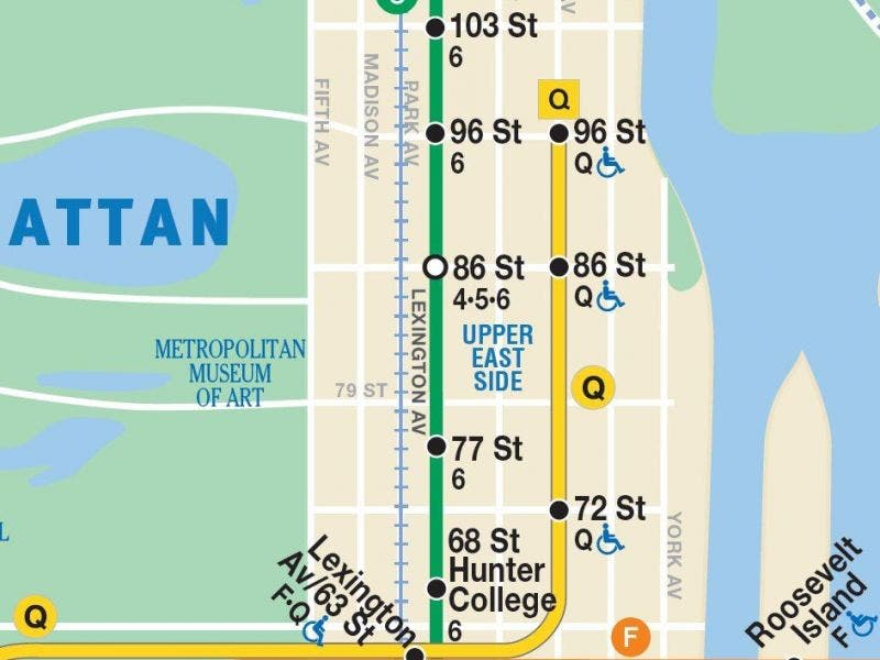 Q Line Subway Map.2nd Avenue Subway Opening Everything You Need To Know Upper East