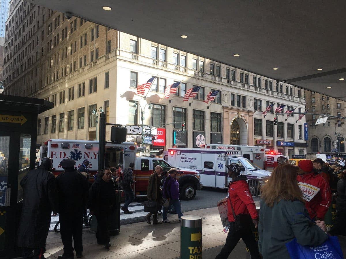 Child Hit By Sign Outside Madison Square Garden Officials Say