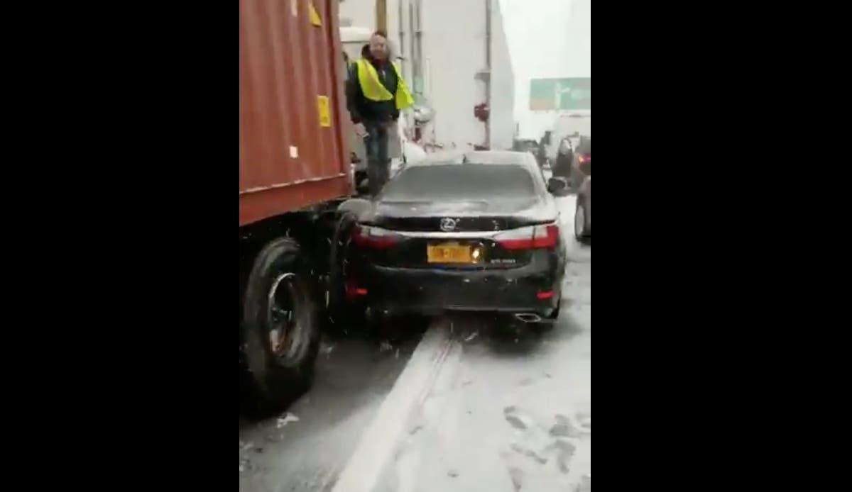SEE: Multi-Car Crash Brings Chaos To Snowy GWB | Washington Heights