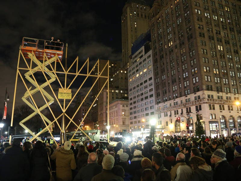 'World's Largest Menorah' Returns To Midtown Manhattan