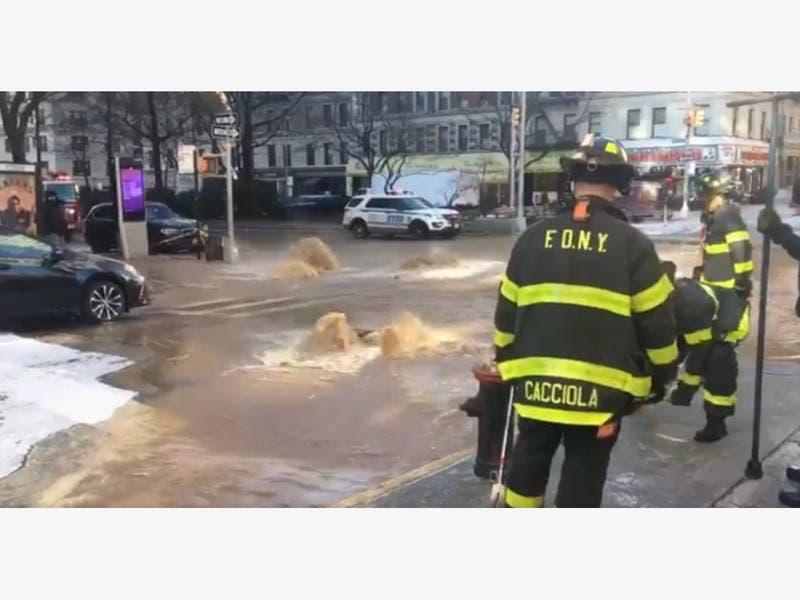 UWS Water Main Break Floods Broadway: Witness, FDNY