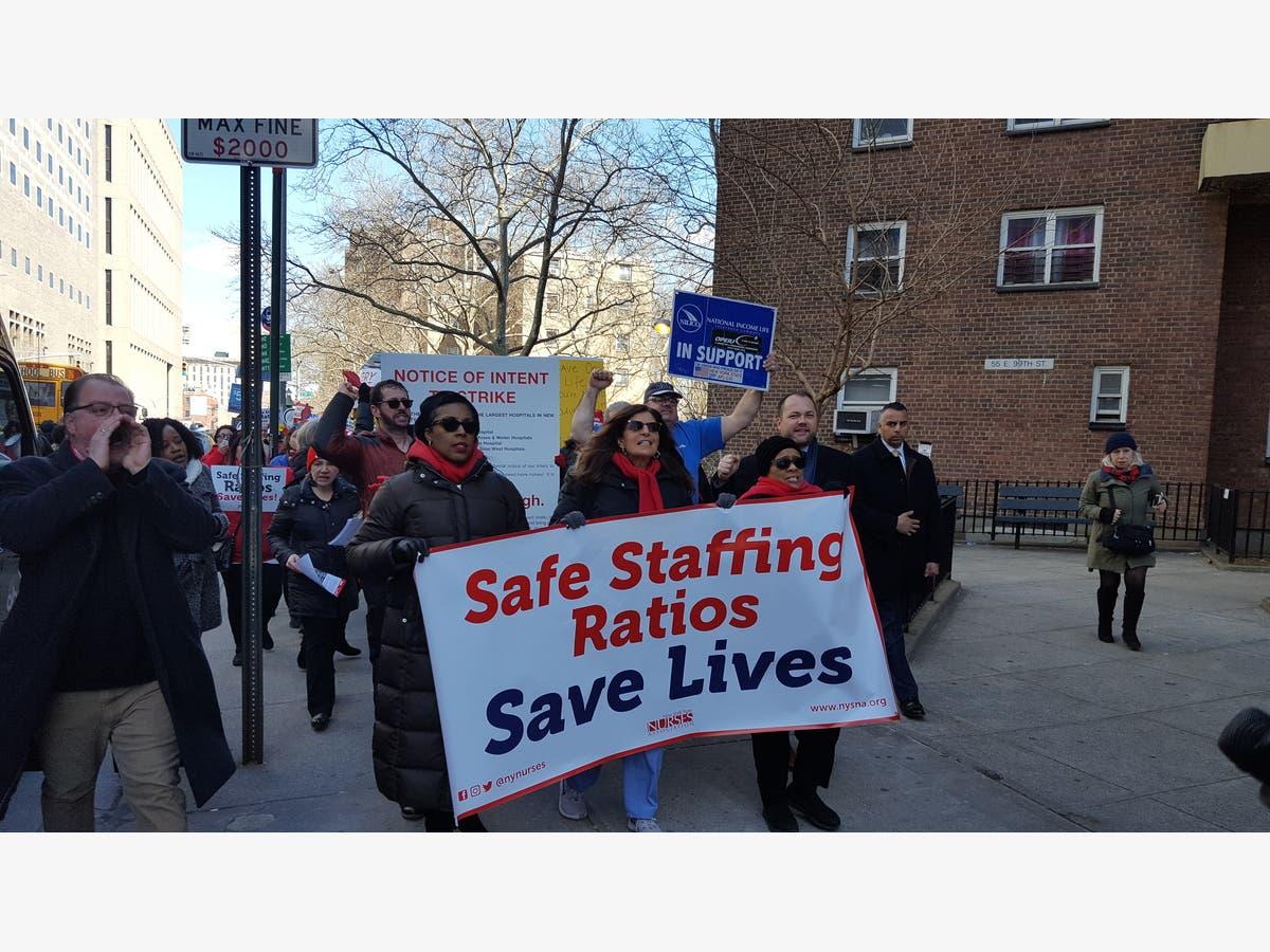 Nurses At 3 NYC Hospitals Threaten Strike For Safe Staffing