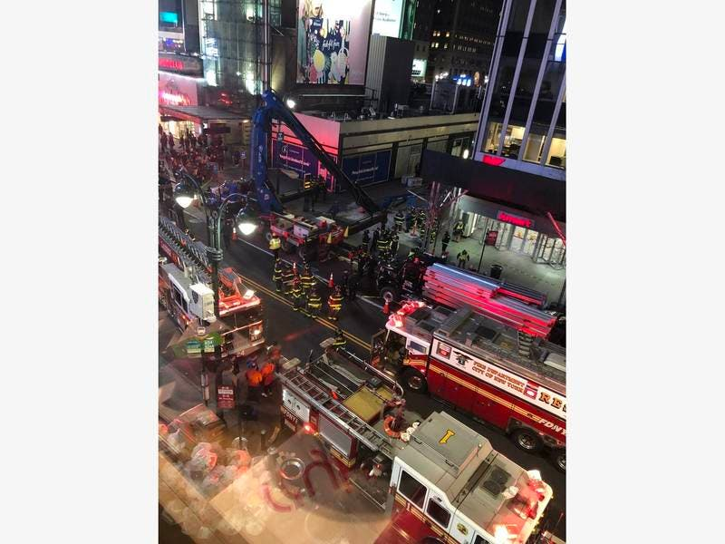 Boom Truck Collapses Near Penn Station, One Hurt: Officials